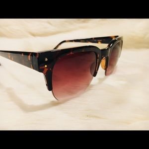 Cole Haan c6111 21 half rim tortoise sunglasses